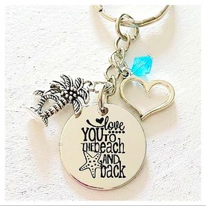 ✨3 for $30✨Love You to the Beach and Back Keychain